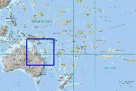 Карта австралии и океании